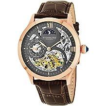 Stührling Original 571.3345K54 - Reloj automático para hombre, correa de cuero, color marrón