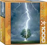 Eurographics Puzzle mit Baum und Blitzeinschlag (1000Teile)