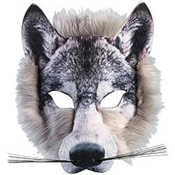 Careta de lobo muy realista.