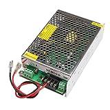Droking AC 110V-240V Schaltnetzteil mit Batterieschnittstelle, AC-DC 10A Reservestromquelle Unterbrechungsfreie Stromversorgung USV, Ladegerät mit Überentladungsschutz Cmopatible für Bleibatterien