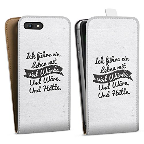 Apple iPhone X Silikon Hülle Case Schutzhülle Leben Humor Sprüche Downflip Tasche weiß