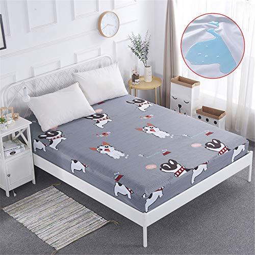 hllhpc wasserdichte atmungsaktive Bettdecke Bettdecke einteilig rutschfest 1,8 mm Simmons Matratze Staubschutzfolien 4 140X200cmX25