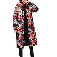 HWTOP Wintermantel Daunenjacke Damen Übergangs Jacke Premium Outwear Frauen Warm Daunenmantel mit Kapuze Steppjacke Leichte Mantel Oberbekleidung Trenchcoat Camouflage Baumwollmantel Parka Jacke