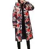Sunnyuk Damen mäntel Camouflage Druck Parkas mit riesen-Kapuze mädchen große-größen weit Blazer warm-gefüttert jacken für Frauen bunt Bedrucken Trenchcoat Freizeit Fashion
