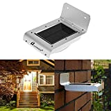 #10: Ascension ® 16 led Solar Lights Solar Ray Sensor Outdoor Light Solar Powered Wireless Waterproof Exterior Security Wall Light for Patio ,Deck ,Yard ,Garden ,Path ,Home ,Driveway ,Stairs ,NO DIM MODE (Pack of 1)