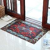 Türmatte Bodenmatte - Polyester/PVC-Gummisohle, verschleißfestes Anti-Rutsch-Material, selbstschneidend, rechteckige Schiebetür für Hausschiebetüren - 2 Farben, 2 Größen verfügbar