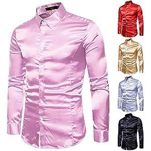UJUNAOR Oktoberfest Männer Langarm T-Shirt Bling Shirt Top Slim Fit Mode Herren Bluse