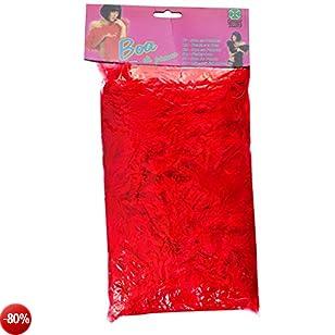 Carnival 08220 - Boa di Piume Lusso Rosso in Busta con Cavallotto, 180 cm., circa 55/60 gr.
