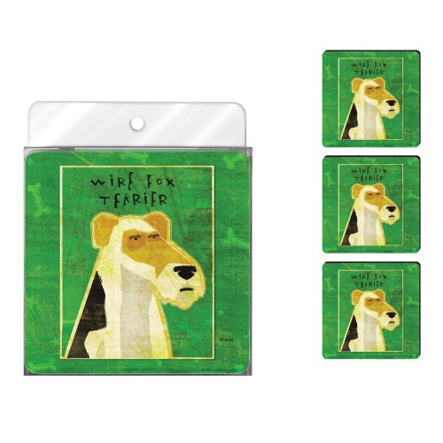 tree-free-greetings-nc37992-john-w-golden-4-pack-artful-coaster-set-wire-fox-terrier