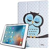 tinxi® Apple iPad pro 9,7 Funda Cuero artificial piel Funda para Apple iPad Pro 9,7 9,7 pulgadas (24,64 cm) protectora Cover Tablet Notebook Case con el dibujo de un buho durmiente