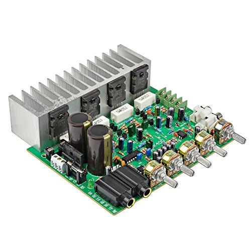 aiyima HiFi Digital Reverb Power Verstärker Board 250W + 250W Audio Vorverstärker Hinten Verstärkung mit Tonregler