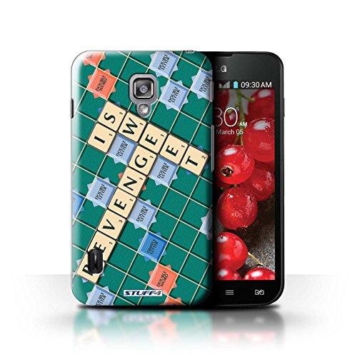 Kobalt® Imprimé Etui / Coque pour LG Optimus L7 II Dual / Ignorance Béatitude conception / Série Mots de Scrabble Douce Vengeance