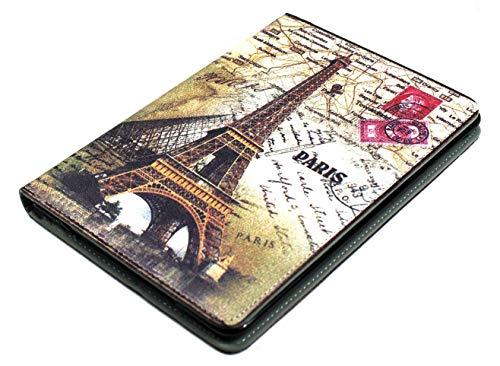 Schutzhülle für iPad Mini 1/2/3/4 (Motiv: Paris Eiffelturm, aus TPU-Kunststoff, mit Standfunktion) (Ipad Mini 3 Cover Paris)