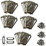YFMD antiker Messing-Halter, Metall, Schrank Schublade, Tags, Etiketten mit Kartenhalter für Bücherregale, Schublade, Schrank (50Stück)