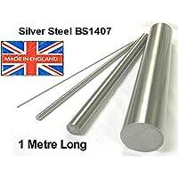 9mm de diámetro x 1m (1000mm) Barra de plata acero larga. Rectificados a precisión Métricas varilla eje. bs1407