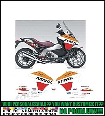 Kit adesivi decal stikers honda integra r replica repsol (ability to customize the colors)