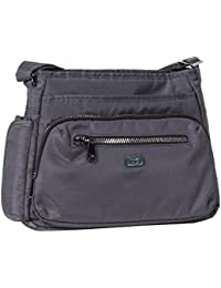 Lug Shimmy Cross-body Bag, Brushed Grey Cross Body Bag
