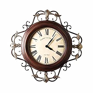 Lostryy Iron Wall Clocks American Atmosphere Simple Living Room Decorated Hanging Table Retro