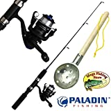 PALADIN Fishing Eisangel Set Basic - Profi Eisrute + Stationärrolle + Eisschöpfer - EIS Angelset...
