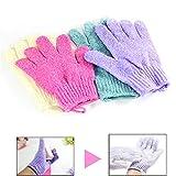 FRISTONE Schrubben Peeling-Handschuhe Bad Zubehör Body Scrubbing für Männer, Frauen & Kinder (4 Paar/Set)