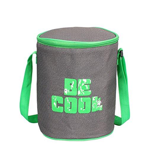 Lunchtasche Mittagessen Tasche Thermotasche Kühltasche Isoliertasche Picknicktasche Campingtasche Coolbag Kühlbox Eistasche-Grün