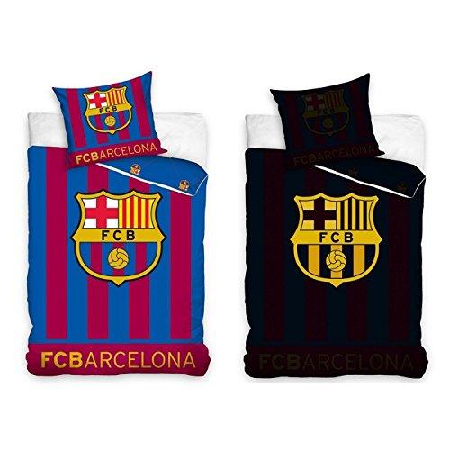 FC Barcelona brilla en la oscuridad solo algodón funda de edredón conjunto