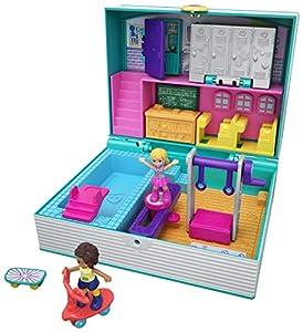 Mattel Polly Pocket-Cofre Vamos al Cole, muñeca con Accesorios, Juguete +4 años, Multicolor GFM48