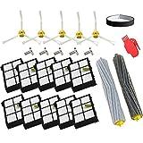 Zubehör für iRobot Roomba-Rad Reifen + HEPA Filter + Ersatz des-Kit Seitenbürste für iRobot Roomba 800 860 870 880 980 Staubsauger Zubehör Teile