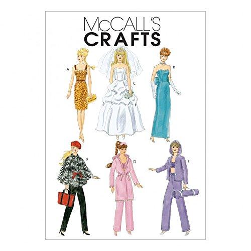 Yd 0.375 (McCall 's Schnittmuster 6258) Crafts Puppenkleider Größen: One Size)