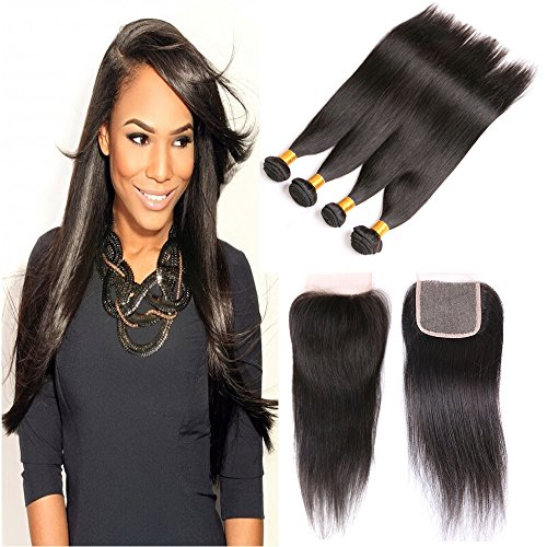 brazilian-hair-straight-4-bundles-with-a-free-part-lace-closure-cheap-virgin-human-hair-7a-unprocess