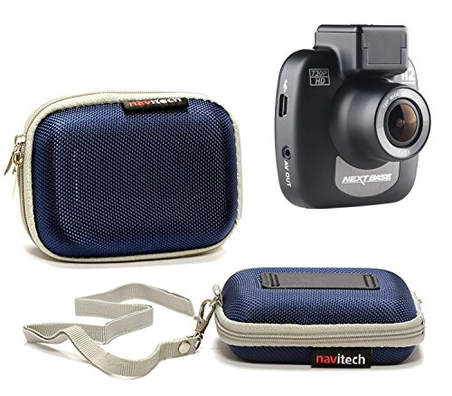 Navitech blauer harter fall für die APEMAN Mini Car Camera Dash Cam 1080P Full HD Video Recorder with Sony Sensor, 650NM Lens, WDR, Loop Recording, Motion Detection, Park Monitor and G-Senso Full Mount