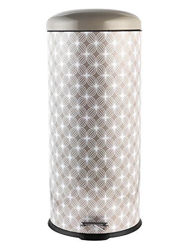 Salter Treteimer, Blätter-Design, Retro,bw04606, Edelstahl, Natural Lattice, 29.1 x 29.1 x 69 cm