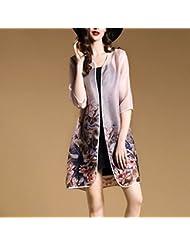 Women'S Robe Été, L'Europe Et Les États - Unis Haut - Fin Silk Women'S Clothing Cardigan Veste Lâche Section