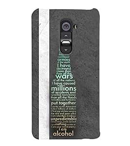PrintVisa Quotes & Messages Beer 3D Hard Polycarbonate Designer Back Case Cover for LG G2