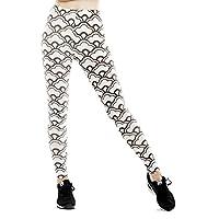 Pantalones Deportivos De Yoga De Cintura Alta Para Mujeres Pantalones Deportivos De Estampado Con Nueve Puntos