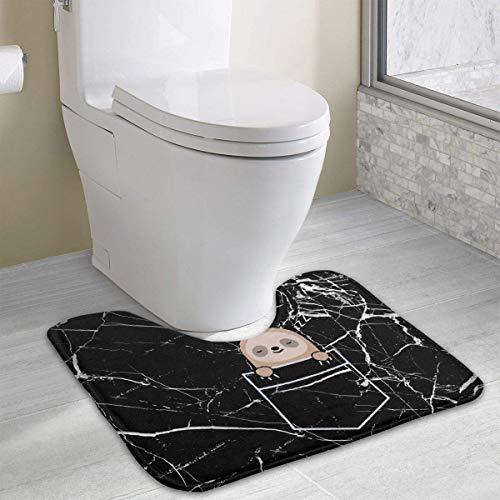Hoklcvd Pocket Sloth U-Shaped Toilet Floor Rug Non-Slip Toilet Carpets Bathroom Carpet (Dodger Gnome)