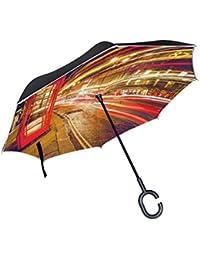 2d7370efe3 Eslifey - Ombrello con Cabina telefonica Rossa a Londra, autoportante, a  Doppio Strato, Pieghevole, Impermeabile,…