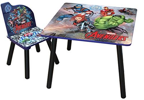 Sedie E Tavoli In Legno Per Bambini.Marvel Avengers Set Di Sedie E Un Tavolo In Legno Per Bambini La