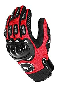 Vega MCS-01B Motorcycle Glove (Red, XXL)