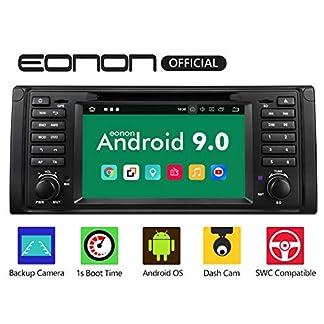 eonon-GA9349-Autoradio-mit-Android-9-fit-BMW-E39-1995-2002-2GB-RAM-32GB-ROM-Quad-Core-178-cm-7-Zoll-LCD-Touchscreen-DVD-GPS-Bluetooth-USB-FM-untersttzt-Lenkradsteuerung-4G-WiFi-DAB