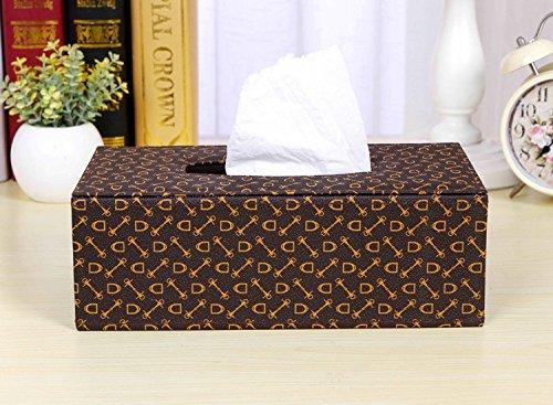 HL-PYL Hochwertiges Leder Karton, Serviette Box Home Papier, Die - 11,13.5 X 8,5 X 25