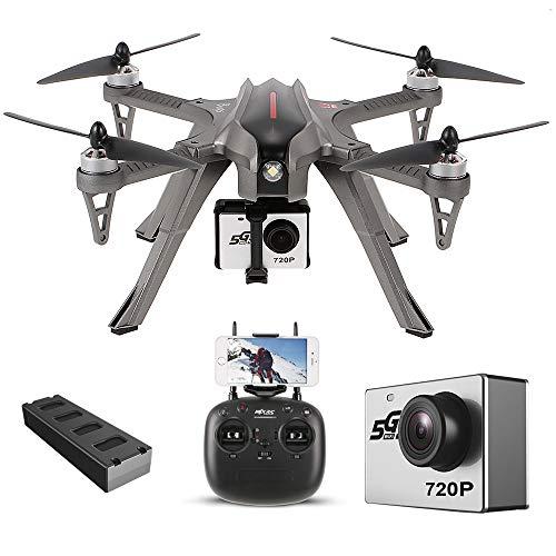 Goolsky MJX Bugs 3H Drone 2.4G 6-Axis Gyro RC Droni Quadcopter con FPV MJX C5000 5G Wifi Transmission 720P Camera Altitude Hold Alta Capacità Batteria