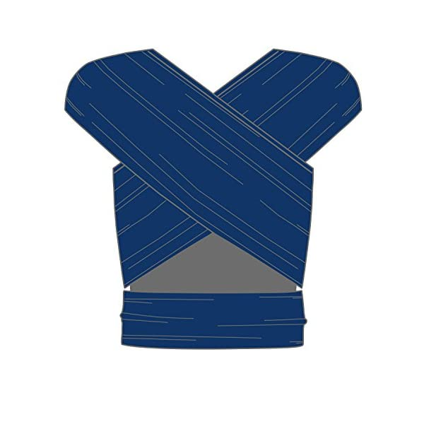 manduca Sling > Stretchy Baby Wrap & Baby Carrier < GOTS Organic Certified Cotton Baby Product, Suitable for Newborns & Infants from Birth up to 15kg (Royal/Blue, 5,10m x 0,60m) Manduca Baby sling in hip & trendy slub jersey. 100% organic cotton, soft, cosy & lightweight knitwear. Fancy effect yarns give the fabric its typical melange look. Stretchy yet stable for optimal fit and comfort: the bi-elastic knitwear wears as light as your favorite shirt, the perfect amount of stretch supports you and your baby without restricting Easy to tie thanks to colour contrasting seams & middle marker. Instructions for three carrying positions: pocket front carry pre-tied (for on the go & for men), wrap cross carry (optimal support) and hip seat/ hip wrap cross carry (with a twist) 6