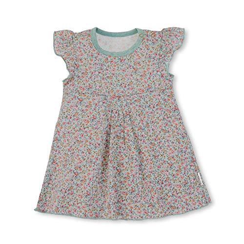 Sterntaler Baby-Mädchen Dress Kleid, Grün (Puder Green 228), 6-12 Monate (Herstellergröße: 74) -