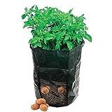 amgateeu 2-Pack Cubo de verduras de patatas Bolsa de Cultivo con macetero de jardín con con solapa de acceso para recoger ~ ecológico impermeable PE