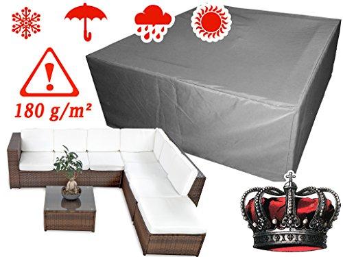 XINRO® winterfeste LUXUS Gartenmöbel Lounge Möbel Set Schutzhülle Hülle Haube Plane Abdeckung Abdeckplane 160x146x62cm