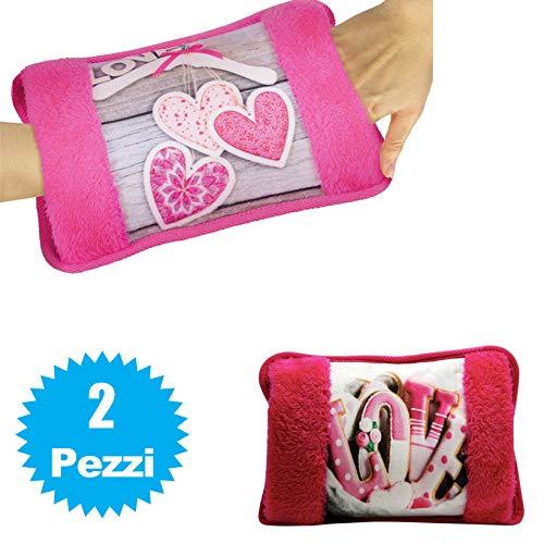 081 store - 2 x borsa acqua calda elettrica scaldino mani e piedi con tasche