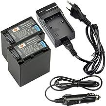 DSTE 2-Pieza Repuesto Batería y DC04E Viaje Cargador kit para Sony NP-FV100 DCR-SR15 SR21 SR68 SR88 SX15 SX21 SX44 SX45 SX63 SX65 SX83 SX85 HDR-CX105 CX110 CX115 CX130 CX150 CX155 CX160 CX190