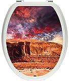 Pixxprint 3D_WCs_2392_32x40 Mächtiges Monument Valley USA ALS Toilettendeckel Aufkleber, WC, Klodeckel, gläzendes Material, bunt, 40 x 32 cm