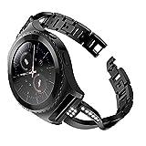 BZLine Für Samsung Smartwatch Gear S2 Classic Armband | Mode Ersatz Metall Crystal Watch Strap Armband Uhrenarmband | Passend für 4,92